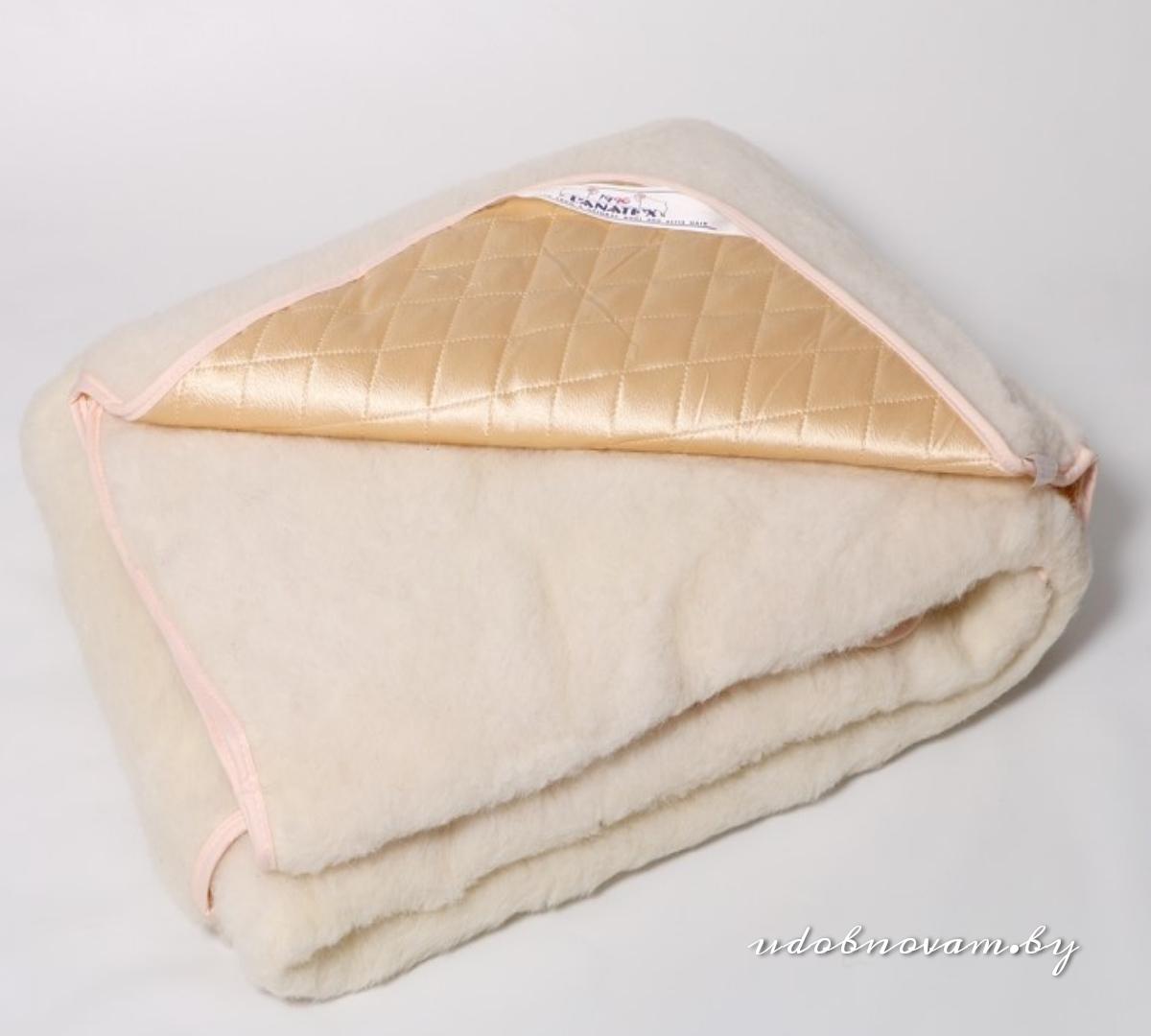Одеяло из шерсти+атлас Lanatex