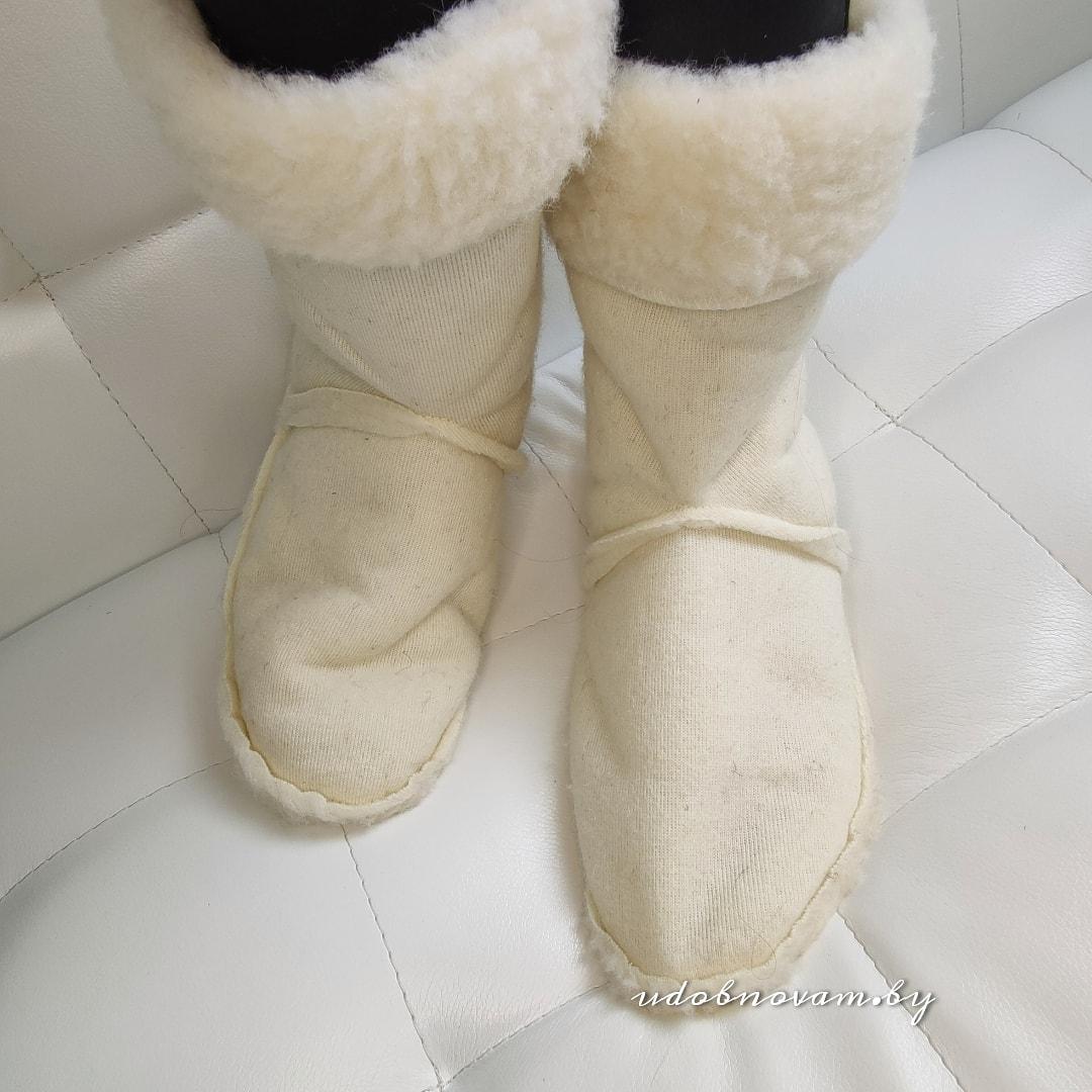 Вставки в сапоги, ботинки на овчине